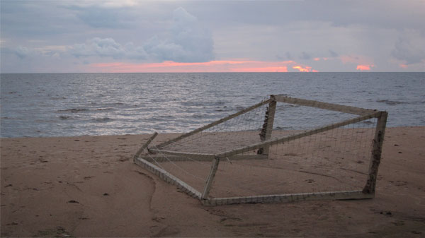 Found Object (Football Goal). Salacgriva, Lettland. 2012.